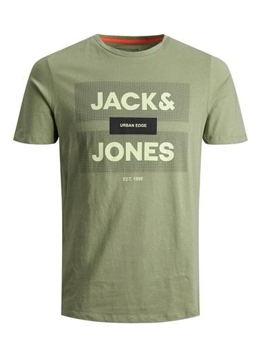 Jack & Jones Jack&Jones Erkek Baskılı T Shirt 12188039 Yeşil